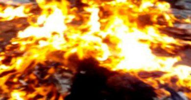 ballia child sonam burn in fire
