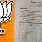भारतीय जनता पार्टी ने  जारी की दूसरी लिस्ट