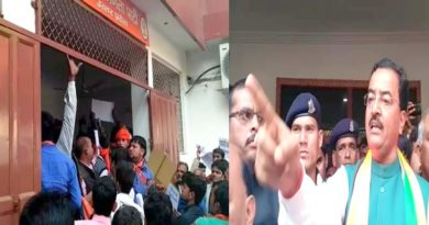 bjp worker protest aginst ticket distribution in lucknow