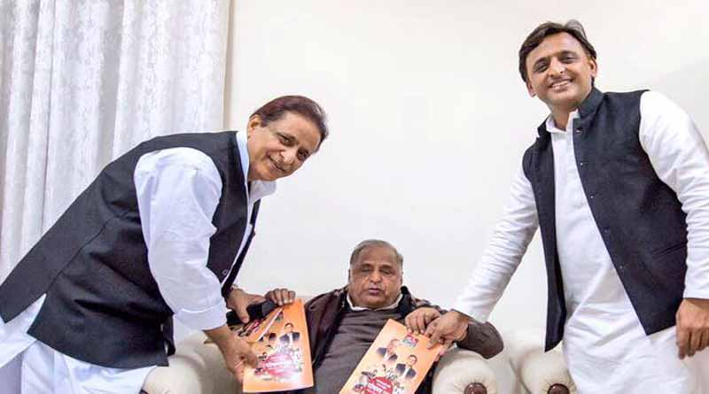 mulayam singh yadav angry akhilesh yadav for congress