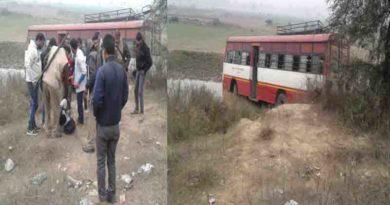 rodways bus ka accident barabanki