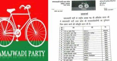 samajwadi party declare executive member list uttar pradesh