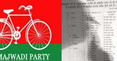 samajwadi party declare new list of candidate