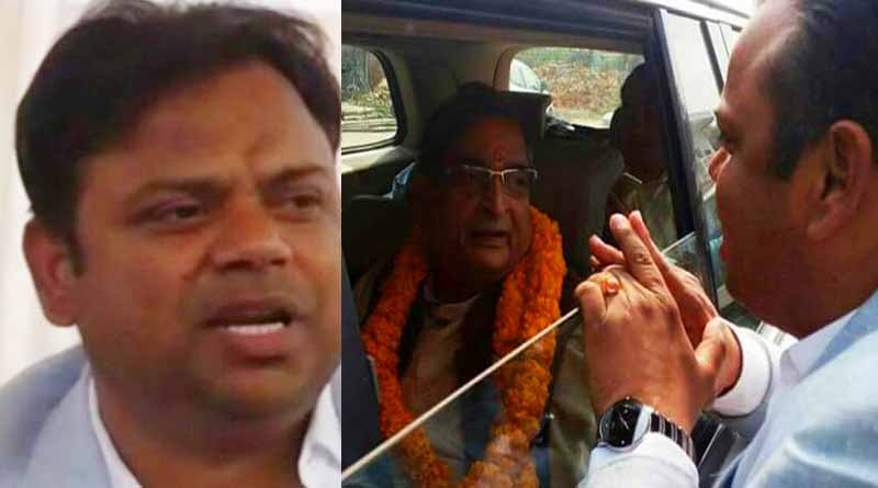 BJP MP RK Sinha misbehaved in basti