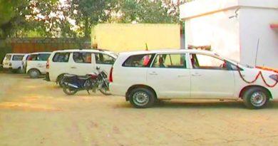 ambedkarnagar police siege bjp car
