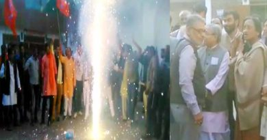 bjp celebrate maharshtra election winning in lucknow