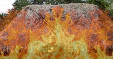 flames written The story of destruction ballia