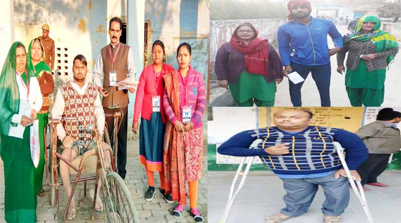handicaped people given vote
