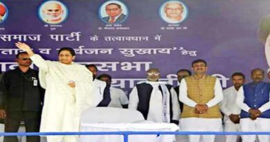 mayawati attacks on sapa and bjp ballia