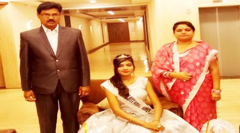 nishi kumari miss jharkhand with mother and father