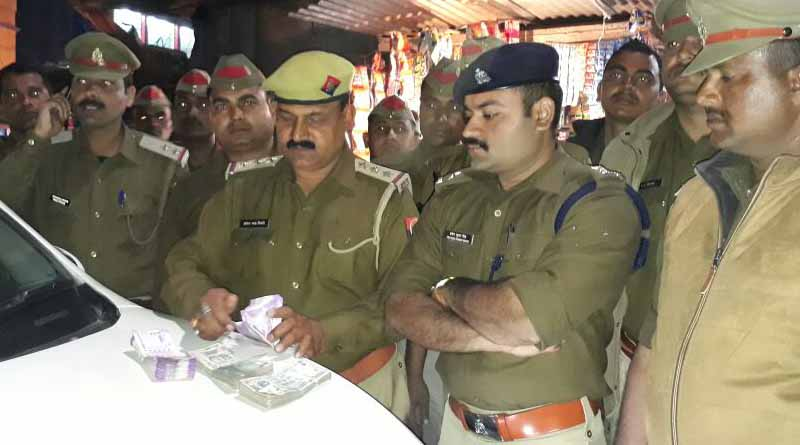 police recovered lakhs rupees during checking ballia