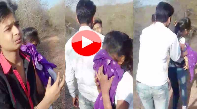 viral video girl and boy in jungle