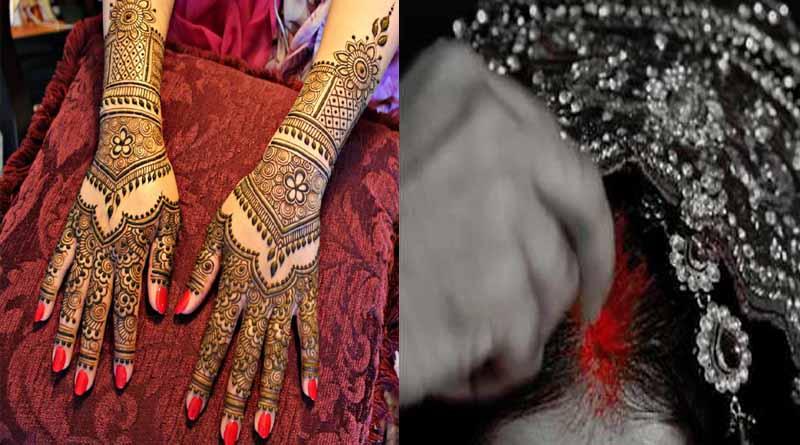 mehandi and sindoor bride