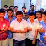 अमरनाथ आतंकवादी हमले पर फूटा बलिया वासियों का गुस्सा,दी गयी मृतकों को श्रधांजलि