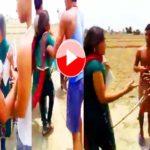 कॉलेज जाती लड़की के साथ हुई छेड़खानी और मारपीट Molestation with Girl  viral video