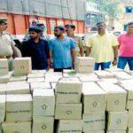 बलिया में नहीं रुक रहा है अवैध शराब का कारोबार फिर पकड़ी गयी लाखों की शराब