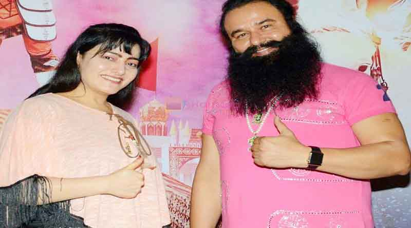 honeypreet with baba gurmeet ram rahim