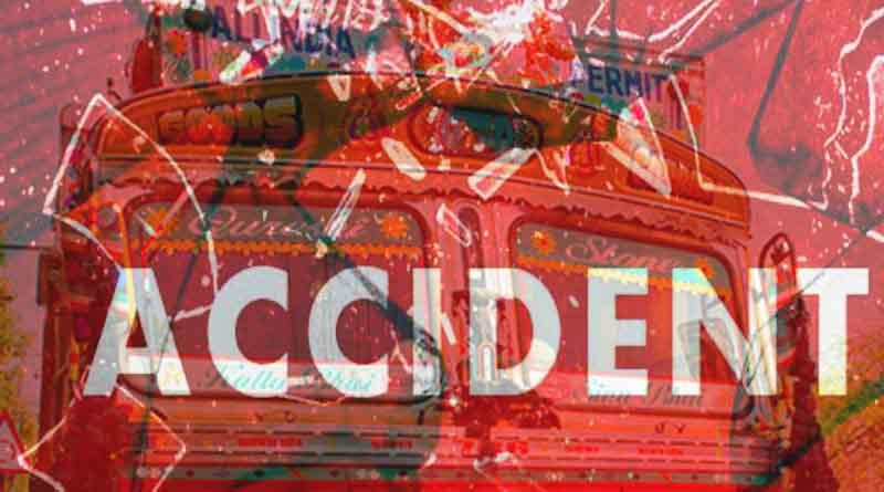 ballia truck and bike accident