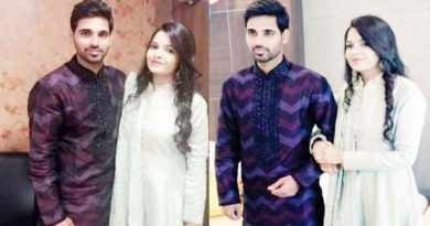 indian cricketer bhuvneshwar kumar and wife nupur