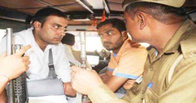 updesh rana and amit jani arrested in taj mahal post