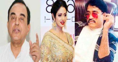 sridevi murder new twist , Subramanian Swamy,Dawood Ibrahim